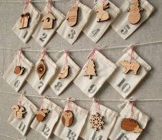 for KEEPSAKE: woodland advent calendar from Peppersprouts $125