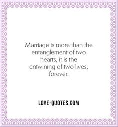 My first marriage = My only marriage