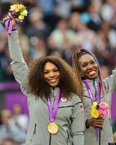 US Serena Williams (L) and Venus William