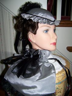 Civil War Hat and ReticuleVictorian LadiesGray by civilwarlady, $49.99