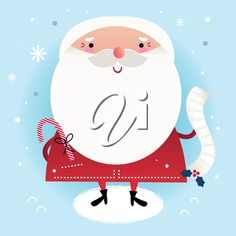 iCLIPART - Clip Art Image of Santa with His Naughty and Nice List
