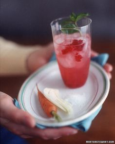 Raspberry Herb cocktail (Martha Stewart)
