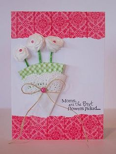 Mother's Day Nosegay Card by @Heather Creswell Hoffman