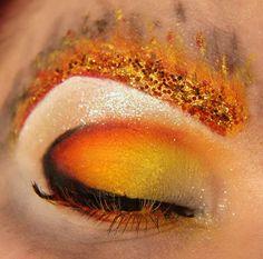 Jangsara On Fire catching fire, eye makeup, hunger game, fire makeup, eyebrow, amaz eye, fire eye, ray ban sunglasses, vintage style