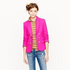 J Crew Collection crepe shawl blazer