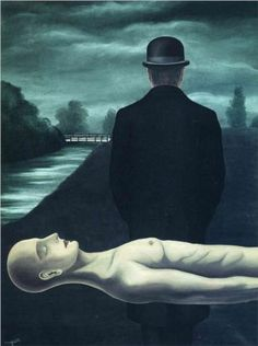 The musings of the solitary walker, Rene Magritte 1926.