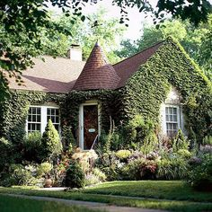 Storybook homes may have entrances that are whimsical and eccentric in location: http://www.bhg.com/home-improvement/door/exterior/elegant-doors/?socsrc=bhgpin092614funfrolic&page=2