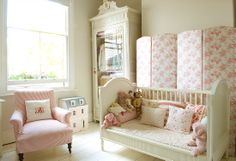 Little baby girl nursery to toddler & beyond bedroom inspiration.