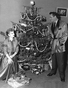 Lucy and Desi celebrate Christmas