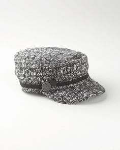 Button tweed cap