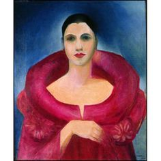 Self portrait(1924) - Oil on Canvas - Tarsila do Amaral.