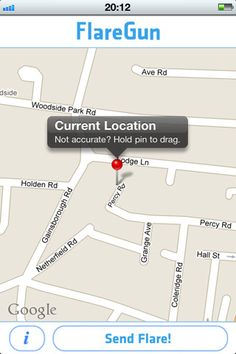FlareGun the app that texts your precise location - for impromptu meetups or emergencies!