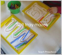 Salt tray mazes