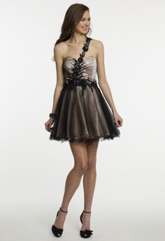 Short Lace Two Tone Dress from Camille La Vie and Group USA