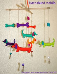 Dachshund Mobile by jello07 on Etsy, $52.00