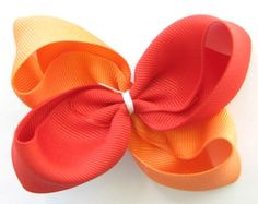 How To Make Boutique Hair Bow--Example 1--2 Tone HairBow : Hip Girl Boutique - , Ribbons, Hair Bows, Hair Clips, Hairbow Hardware, Free Hairbow Instructions