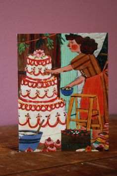 Bake Me A Cake card by Phoebe Wahl.