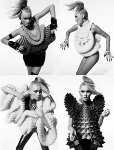 Sandra Backlund, a Swedish knitwear maker, who has been designing interesting pieces since the start of her label in 2004, is definitely on my list of 'designers to watch'. If not for any other reason, at least for the fact that this designer knows how to combine two things that I find really cool: Knits and eccentric design.