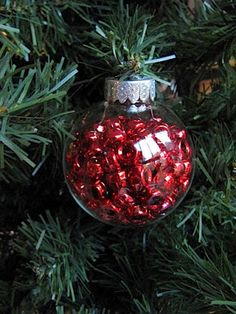 Sew Many Ways...: Fillable Glass Christmas Ornaments...Great Gift Id...