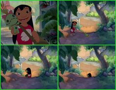 Disney fun fact: After Lilo throws her doll Scrump on the ground, then picks it up and walks away, Scrump begins to smile.