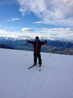 A Cal U student mixes in some skiing during his internship with Educating Adventures near Queenstown, New Zealand.
