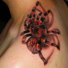 Tattoo  Red Knee Tarantula  Trompe l'oeil