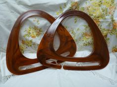 Caramel Brown Purse or Tote Handles Plastic/Lucite by marlanawill, $3.00