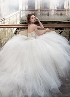 Lazaro Bridal Gown ... Ivory