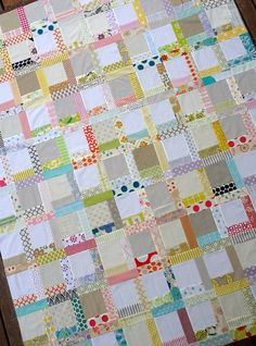 Scr~happy Quilt top by red pepper quilts