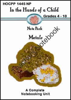 Metals: A Thematic Notebooking Unit from In the Hands of a Child on TeachersNotebook.com -  (42 pages)  - Metals: A Thematic Notebooking Unit, 42 page eBook with research guide and reproducible notebooking pages.
