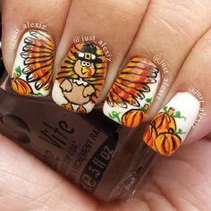 design nail, thanksgiv nail, thanksgiv design, nail designs, nail nailart, turkey, designer nails, nail art, thanksgiving nails