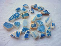 Sea Pottery Shards Mosaic Art Jewelry Craft  by TheMysticMermaid, $15.00
