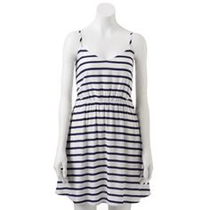 LC Lauren Conrad Striped Challis Dress #Kohls