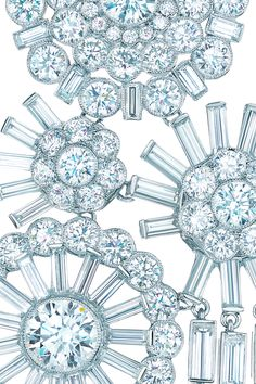 Tiffany & Co. corsage necklace of diamonds in platinum. From the 2013 Blue Book Collection