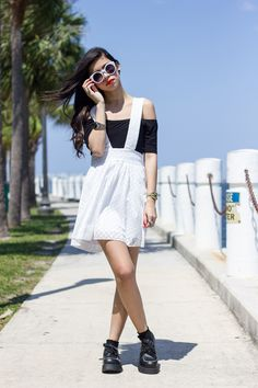 Lace Suspender Skirt. And this outfit in general.