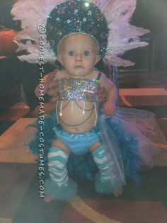 Pint-Sized Las Vegas Show Girl Costume for a Baby... Coolest Halloween Costume Contest