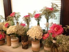 rustic cennterpieces   Rustic centerpieces - DiY   For the Home
