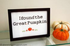Pumpkin Cross Stitch