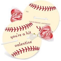 Baseball Valentine... Cute idea for the boys in the class
