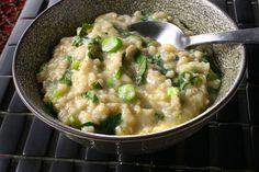 Brown Rice and Gai Lan Jook (Rice Porridge)