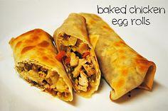 baked chicken egg rolls