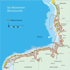 Carte de la Mer des Wadden