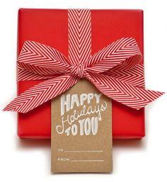 happy holidays - love this ribbon