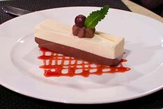 Dark and white chocolate mousse on Silver Spirit