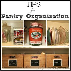 Tips for Pantry Orga