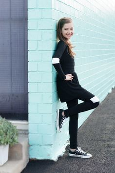 Star Trek style black and white tween outfit