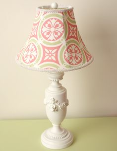 pink and green lamp