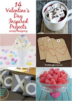14 Valentine's Day Inspired Projects | #valentinesday #hearts #love #diy #crafts