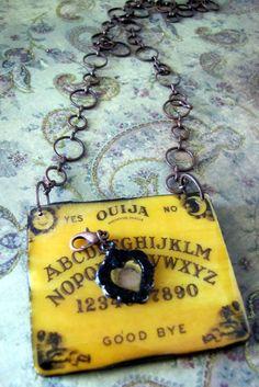 haha a ouija board necklace