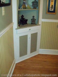 Painted beadboard with white trim